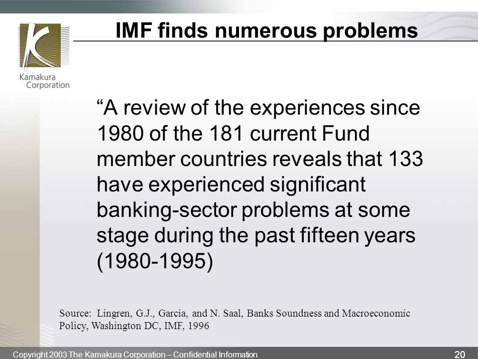IMF finds numerous problems