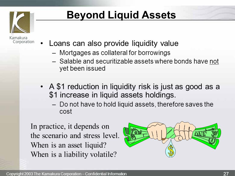 Beyond Liquid Assets Loans can also provide liquidity value