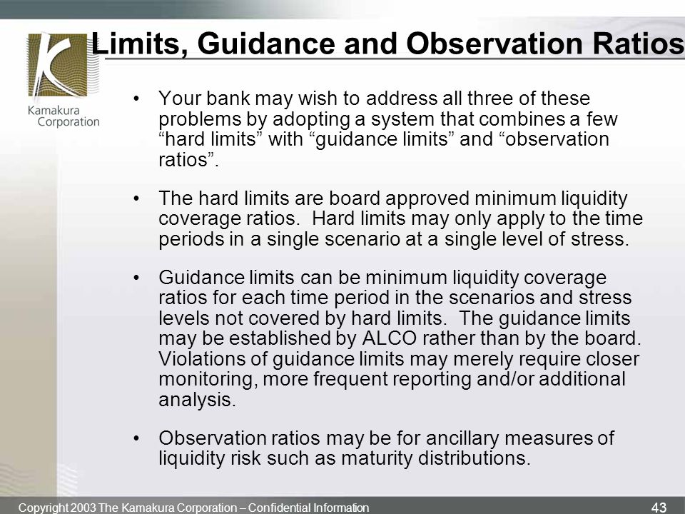 Limits, Guidance and Observation Ratios