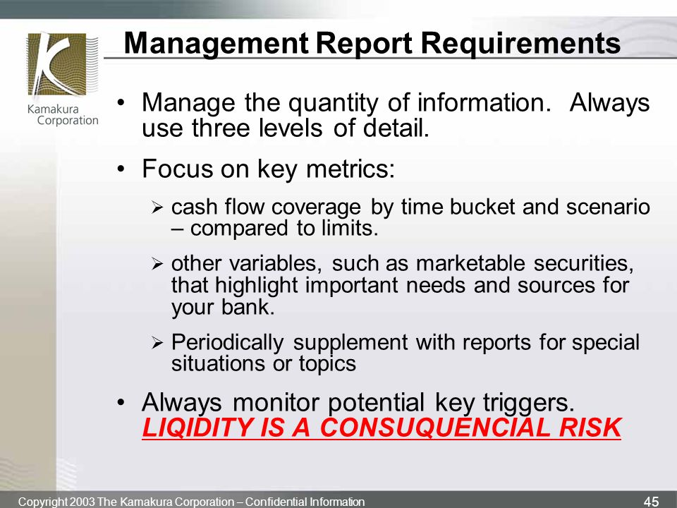 Management Report Requirements