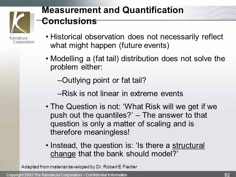 Measurement and Quantification Conclusions