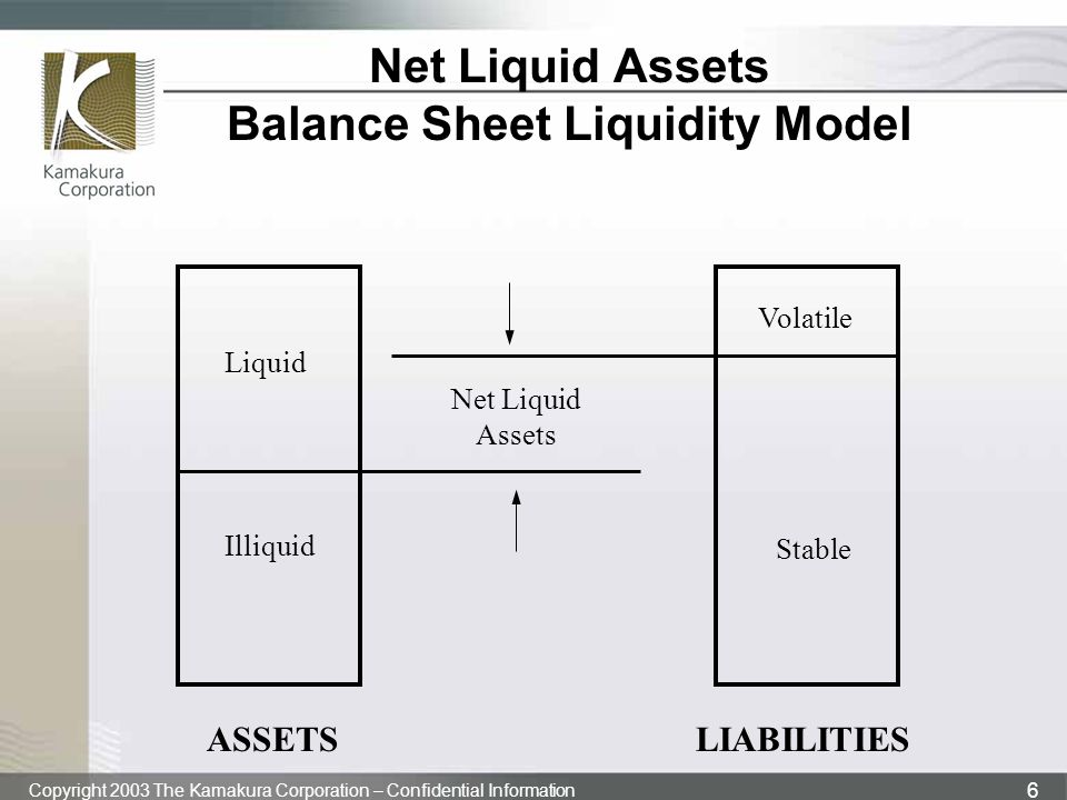 Net Liquid Assets Balance Sheet Liquidity Model