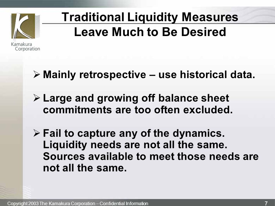 Traditional Liquidity Measures Leave Much to Be Desired