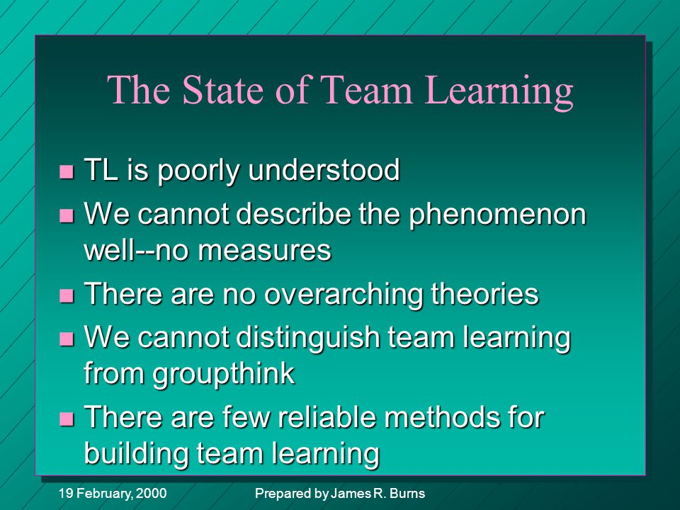 The State of Team Learning