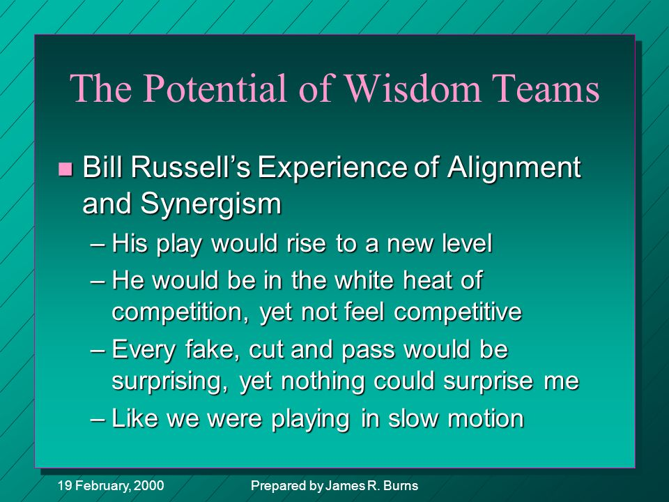 The Potential of Wisdom Teams