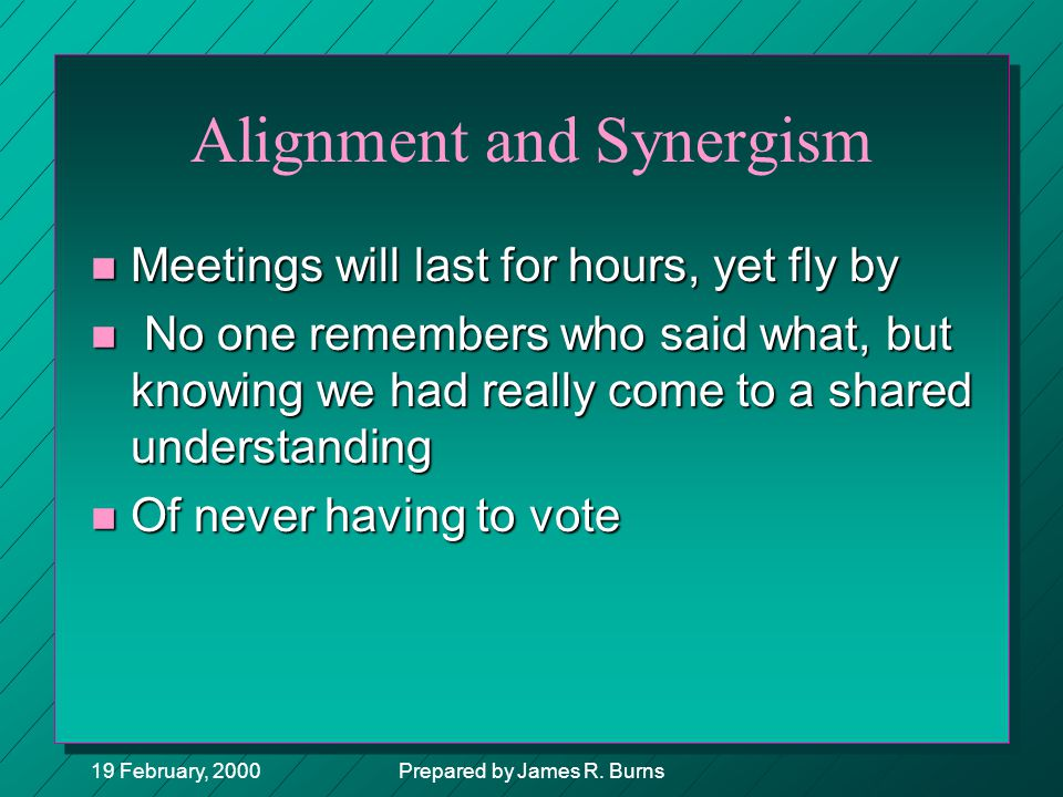 Alignment and Synergism