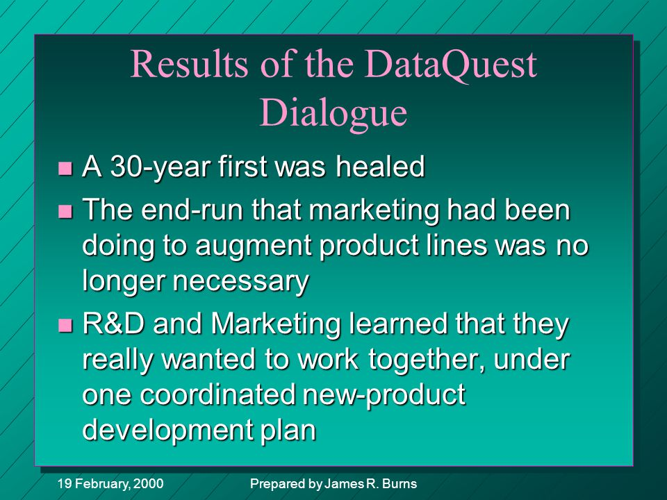 Results of the DataQuest Dialogue