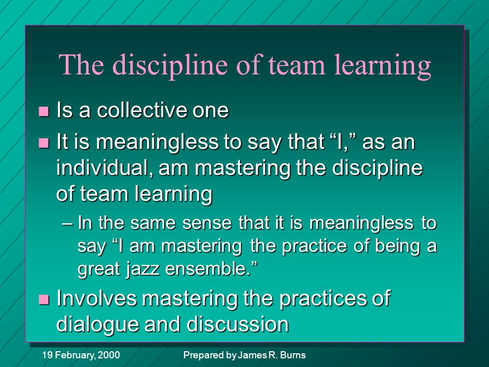 The discipline of team learning