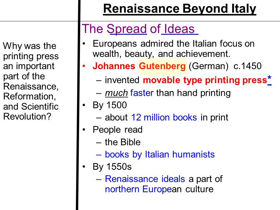 Renaissance Beyond Italy