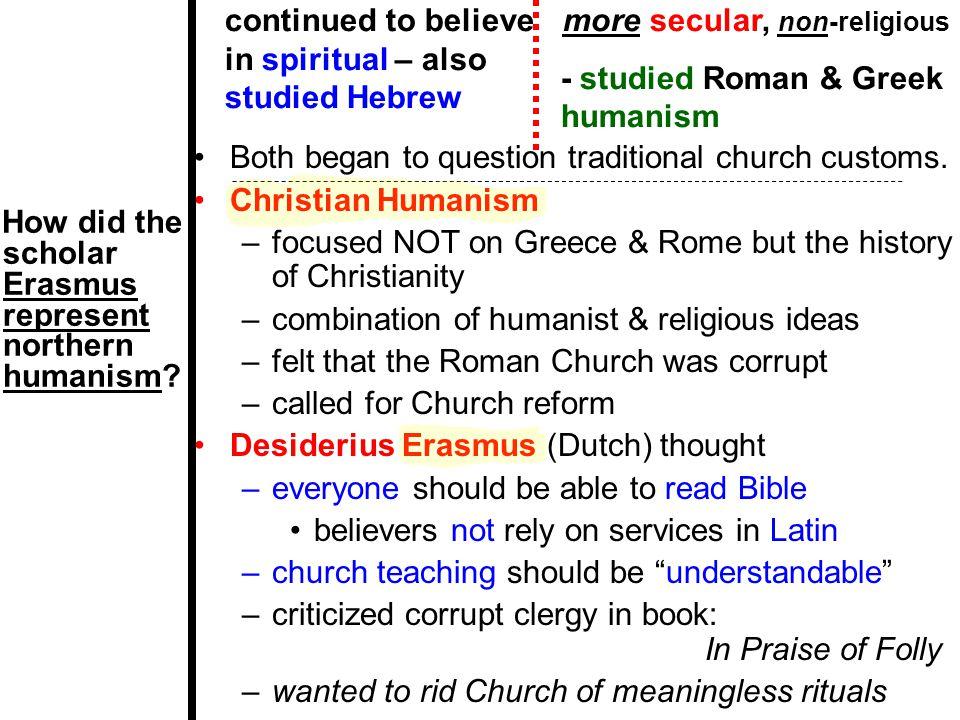 more secular, non-religious