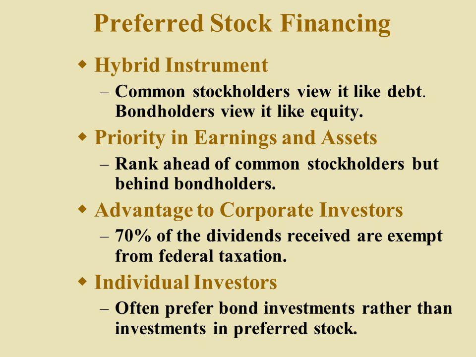 Preferred Stock Financing