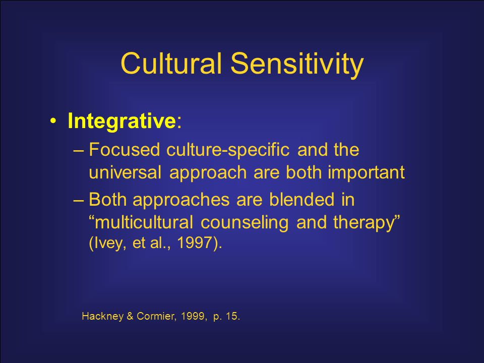 Cultural Sensitivity Integrative: