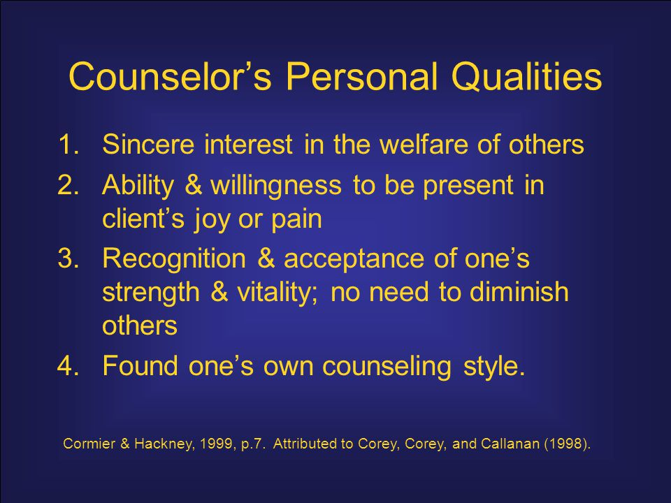 characteristics of an effective counselor pdf