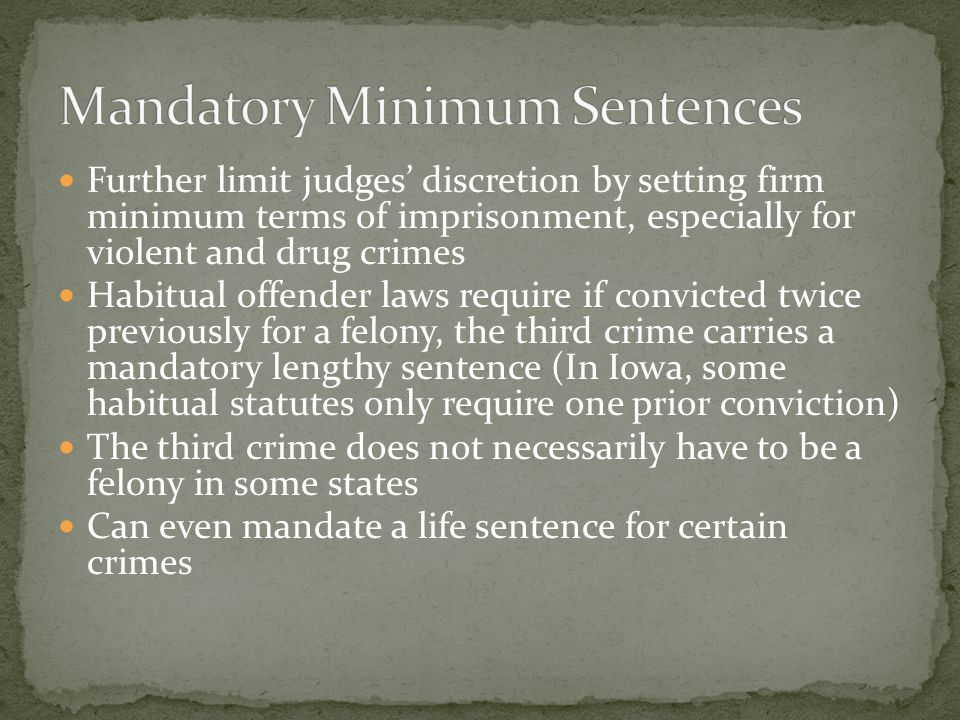 Mandatory Minimum Sentences