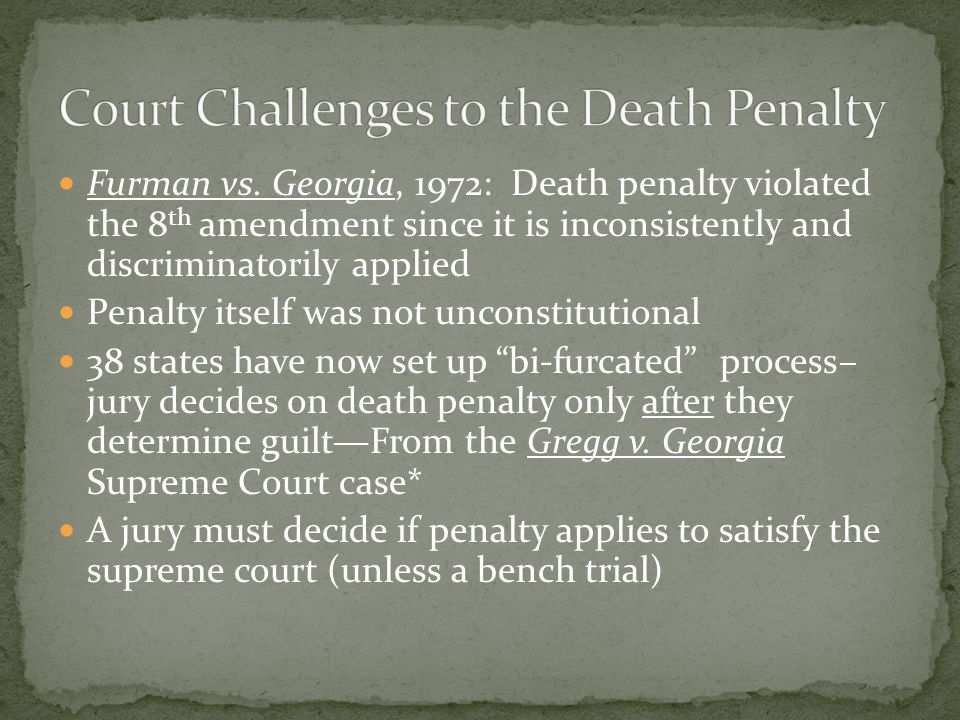 Court Challenges to the Death Penalty
