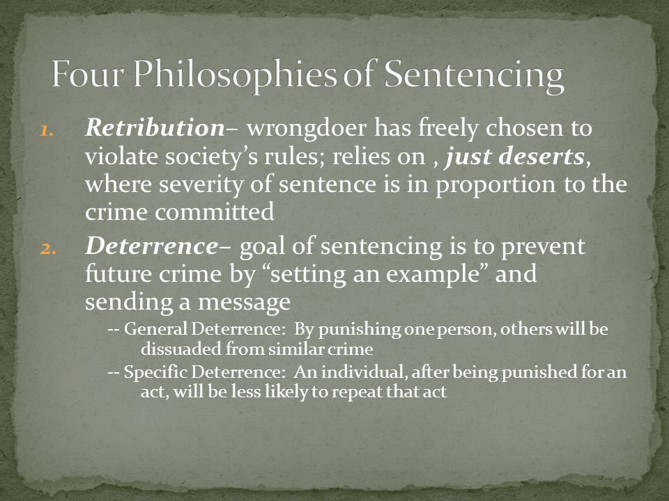 Four Philosophies of Sentencing