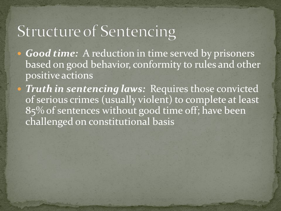 Structure of Sentencing