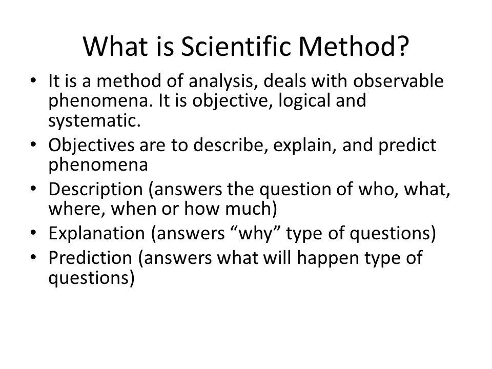 What is Scientific Method
