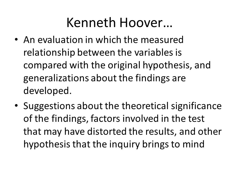 Kenneth Hoover…