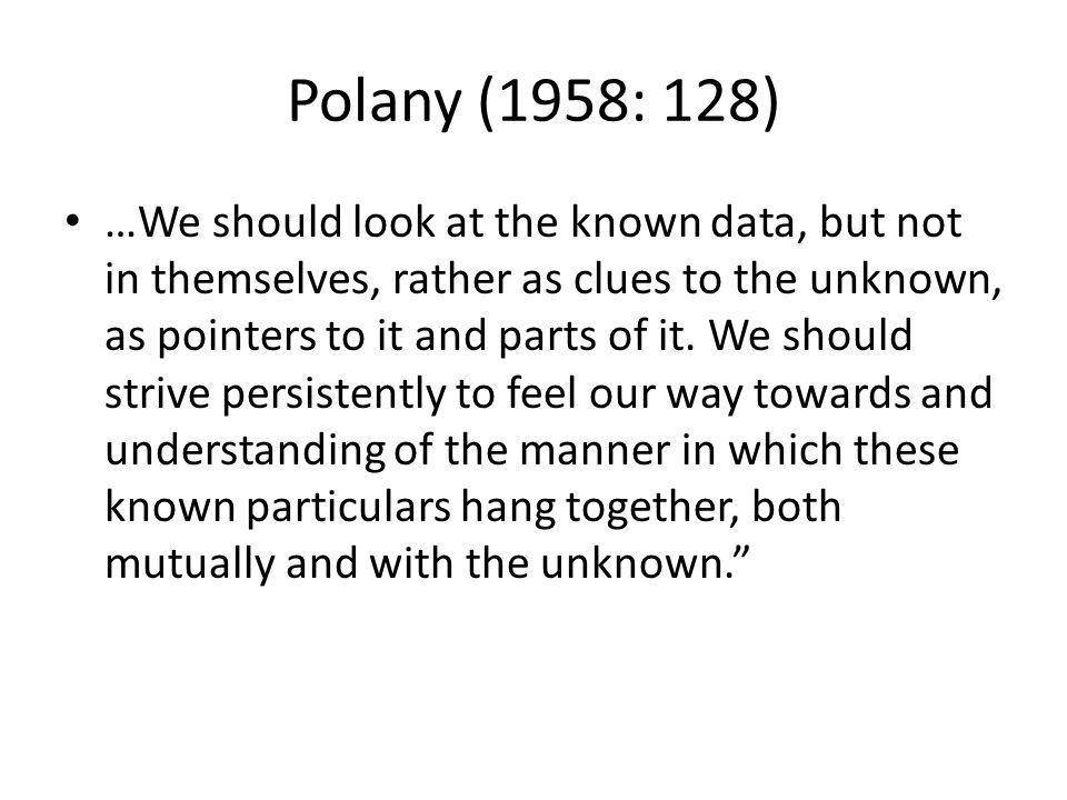 Polany (1958: 128)