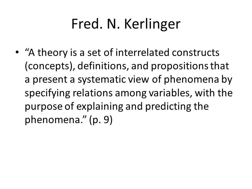 Fred. N. Kerlinger