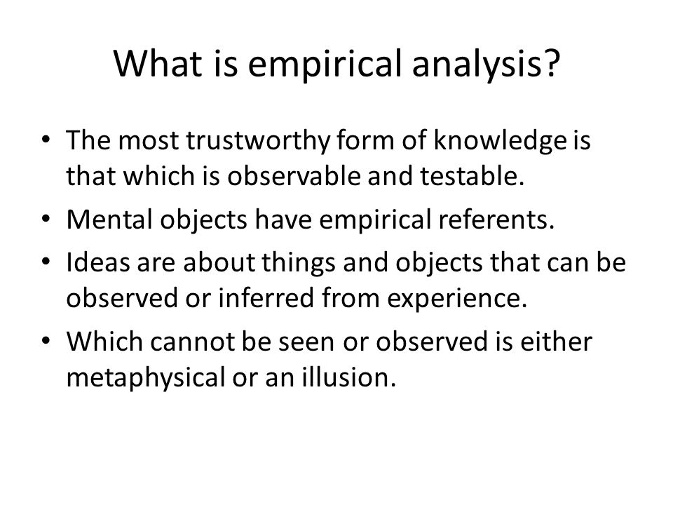 What is empirical analysis