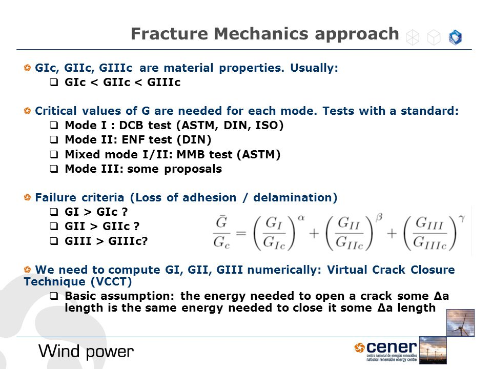 Fracture Mechanics approach