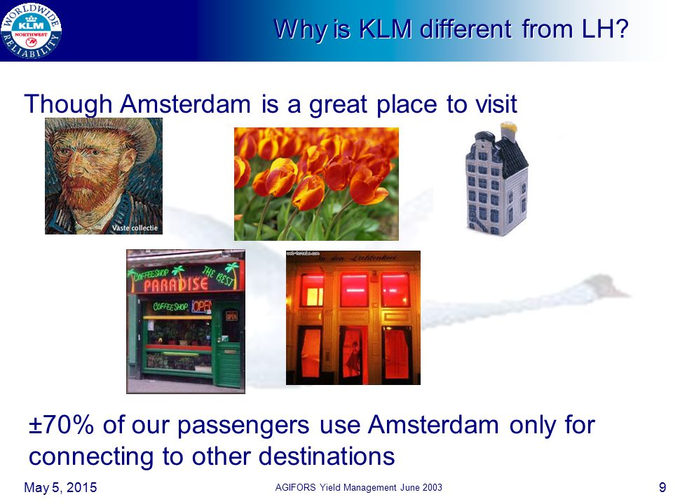 Why is KLM different from LH