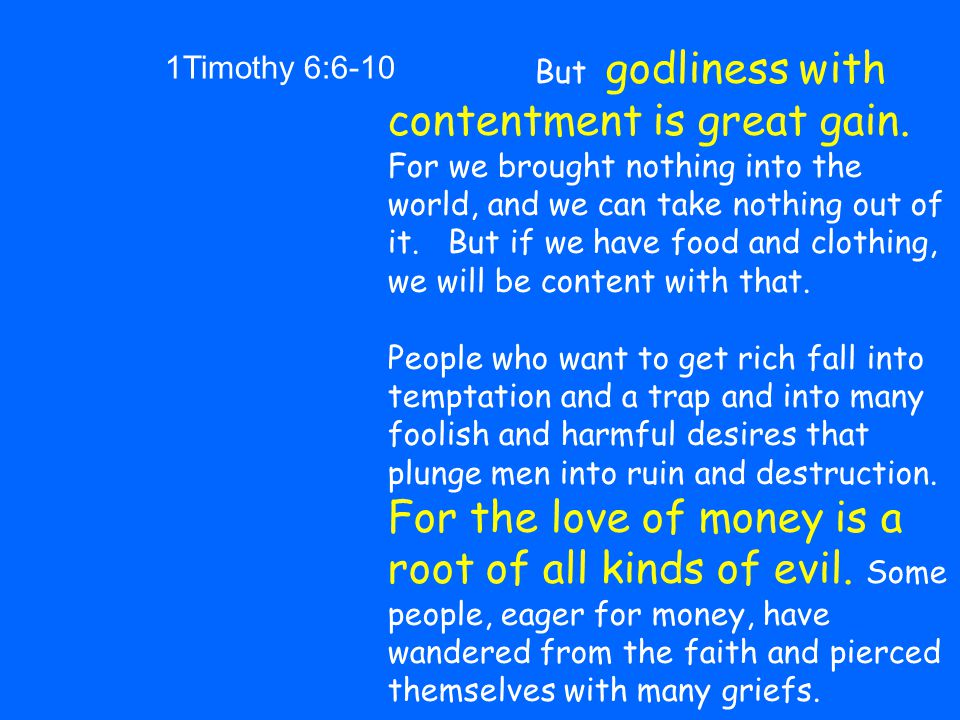 1Timothy 6:6-10