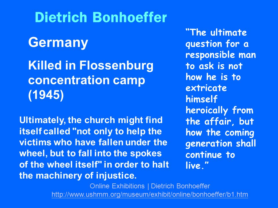 Online Exhibitions | Dietrich Bonhoeffer