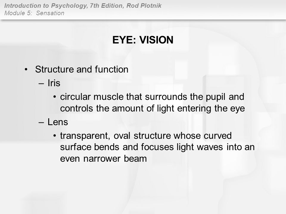 EYE: VISION Structure and function Iris