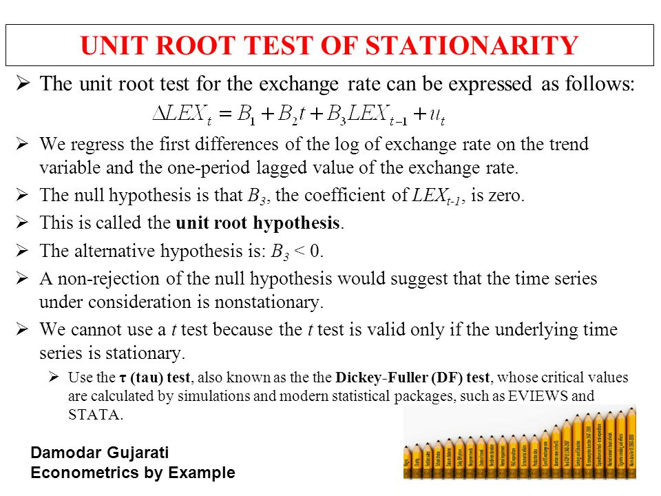 UNIT ROOT TEST OF STATIONARITY