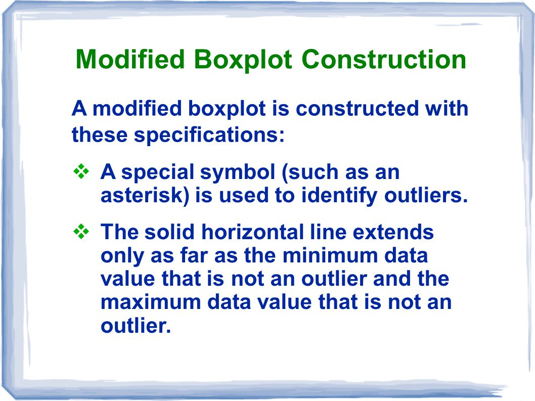 Modified Boxplot Construction