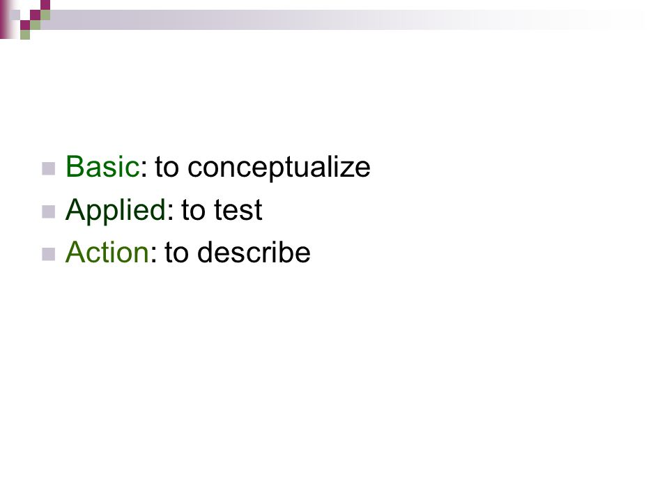 Basic: to conceptualize