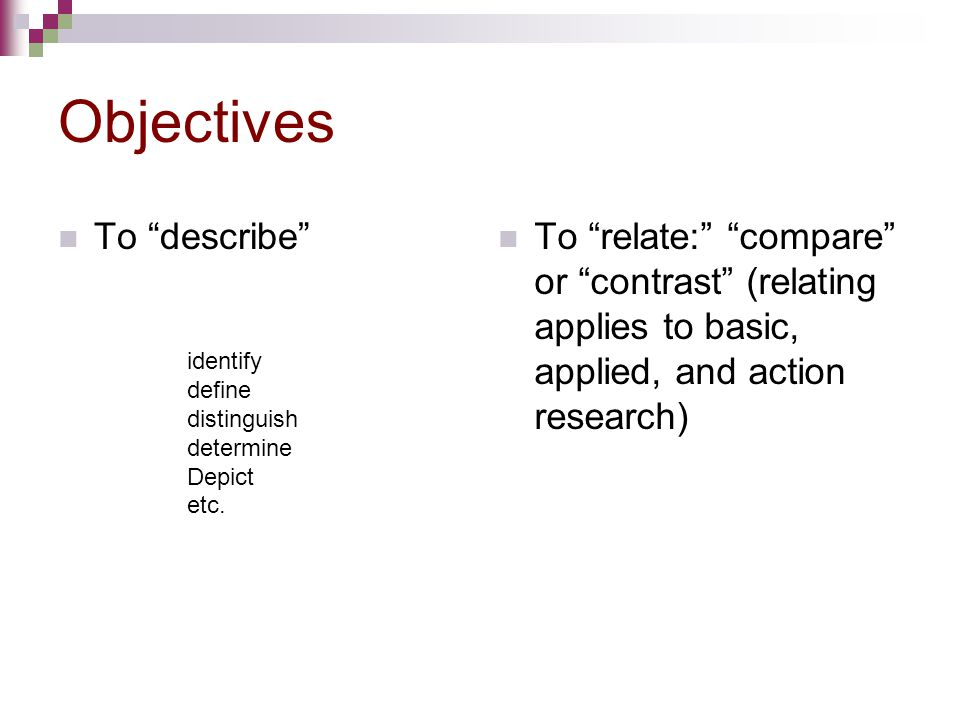 Objectives To describe