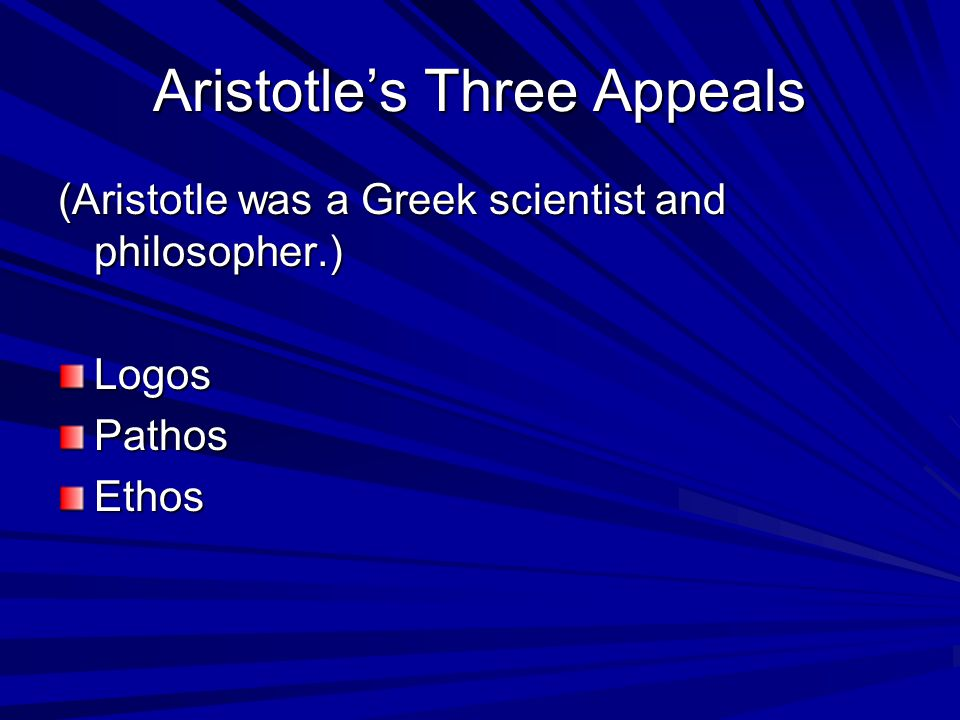Aristotle's Three Appeals