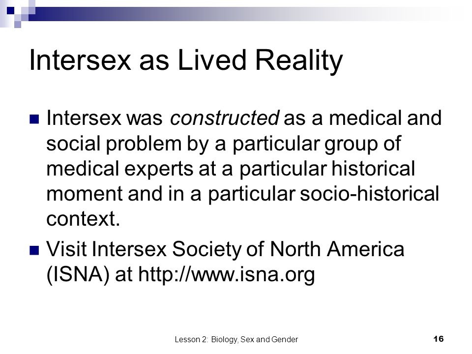 Intersex as Lived Reality