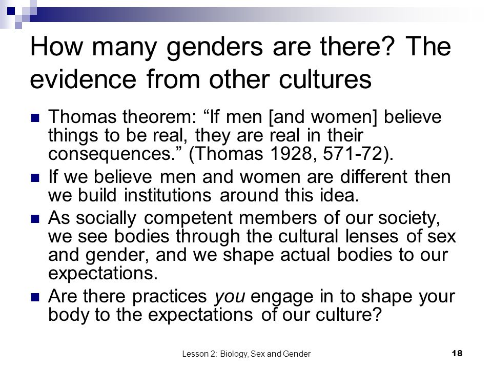 How many genders are there The evidence from other cultures