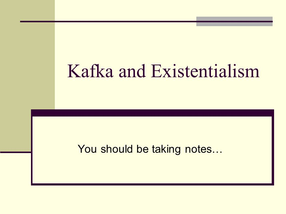 Kafka and Existentialism