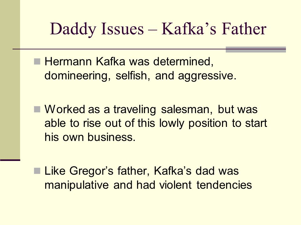 Daddy Issues – Kafka's Father