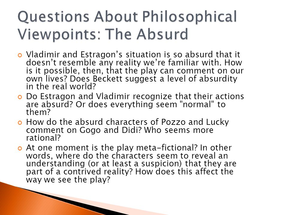Questions About Philosophical Viewpoints: The Absurd