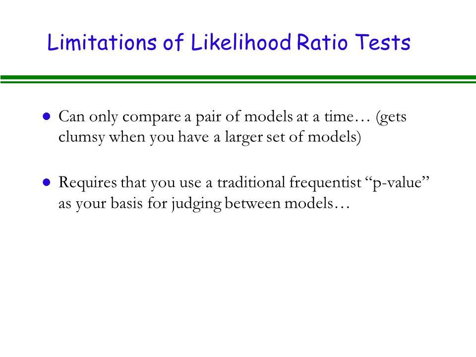 Limitations of Likelihood Ratio Tests