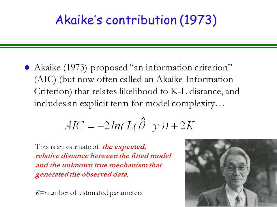 Akaike's contribution (1973)