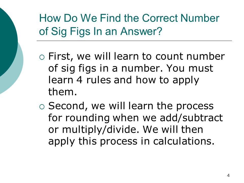 How Do We Find the Correct Number of Sig Figs In an Answer