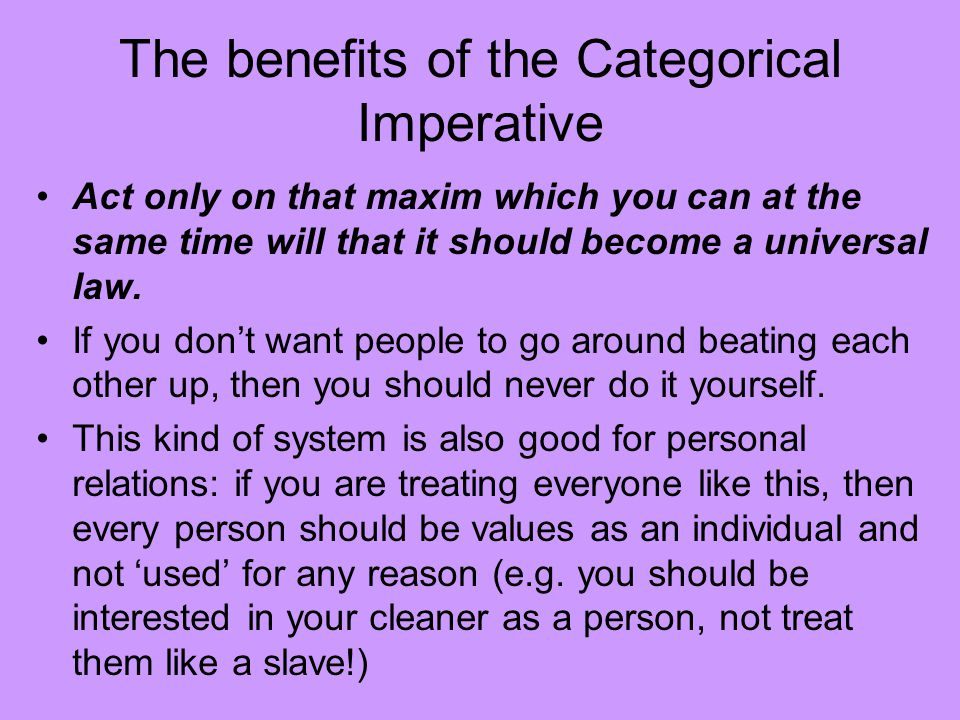 universal law formation of the categorical imperative