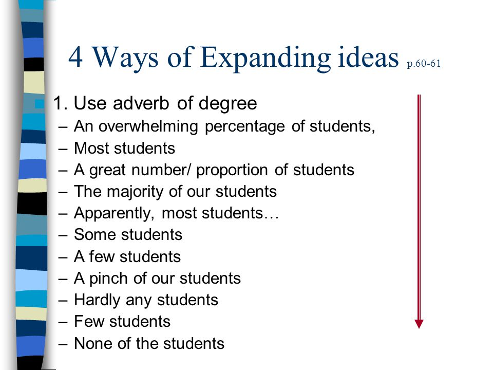 4 Ways of Expanding ideas p.60-61