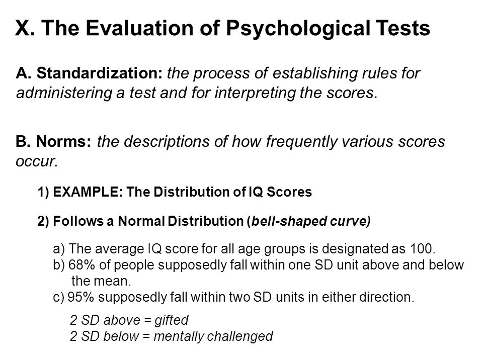 X. The Evaluation of Psychological Tests