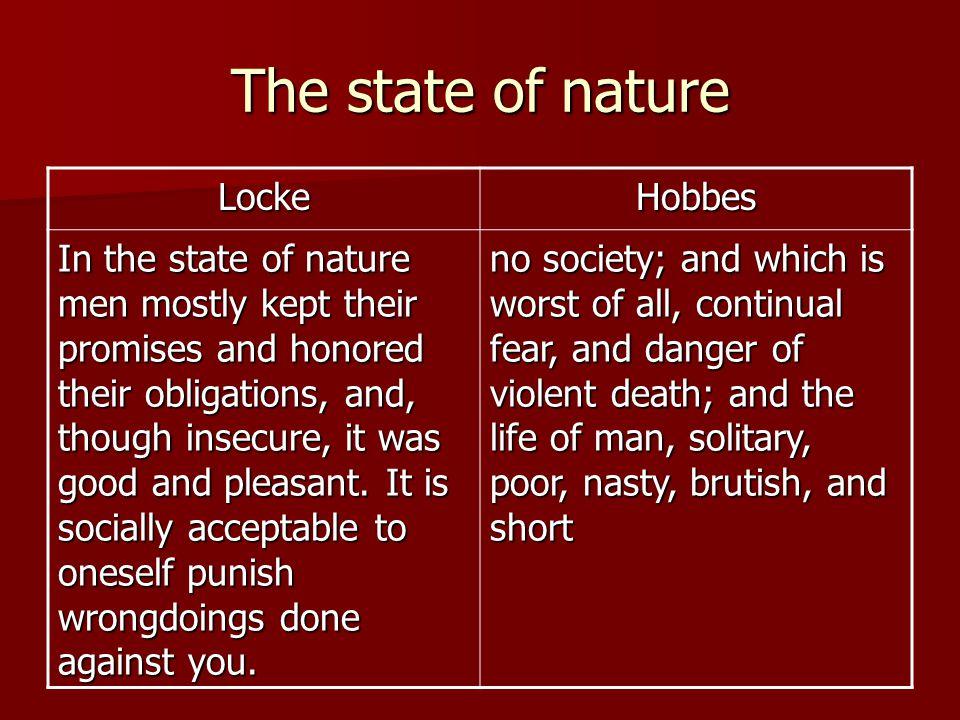 The state of nature Locke Hobbes