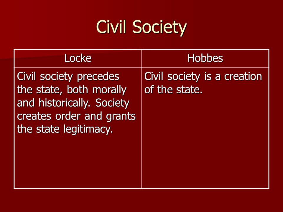 Civil Society Locke Hobbes
