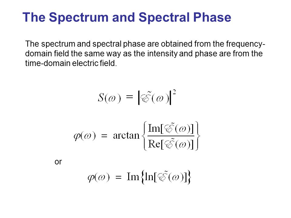 The Spectrum and Spectral Phase